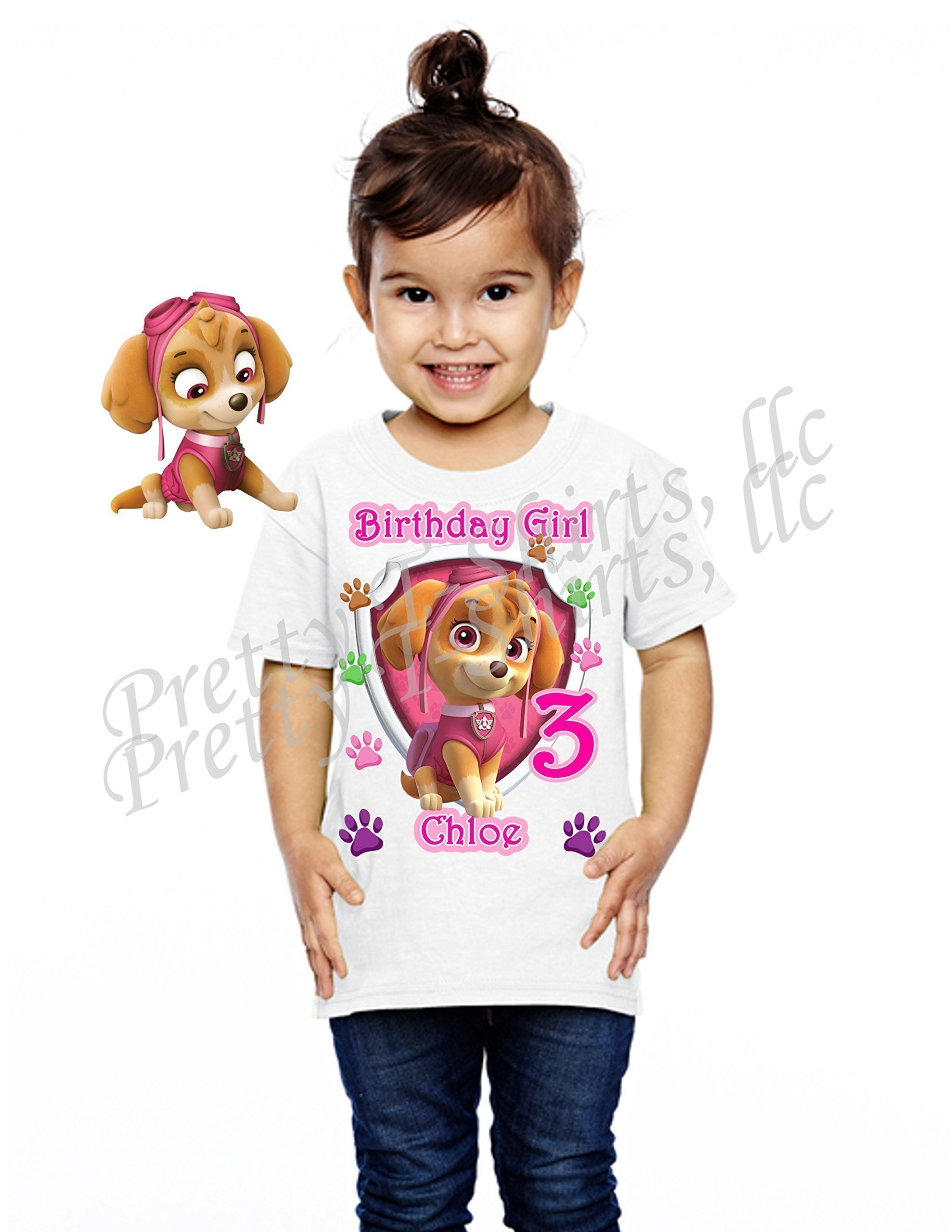 Girl Paw Patrol Birthday Shirt, ADD any name and age, SKYE Birthday Party, FAMILY Matching Shirts, Birthday Girl Shirts, VISIT OUR SHOP!!
