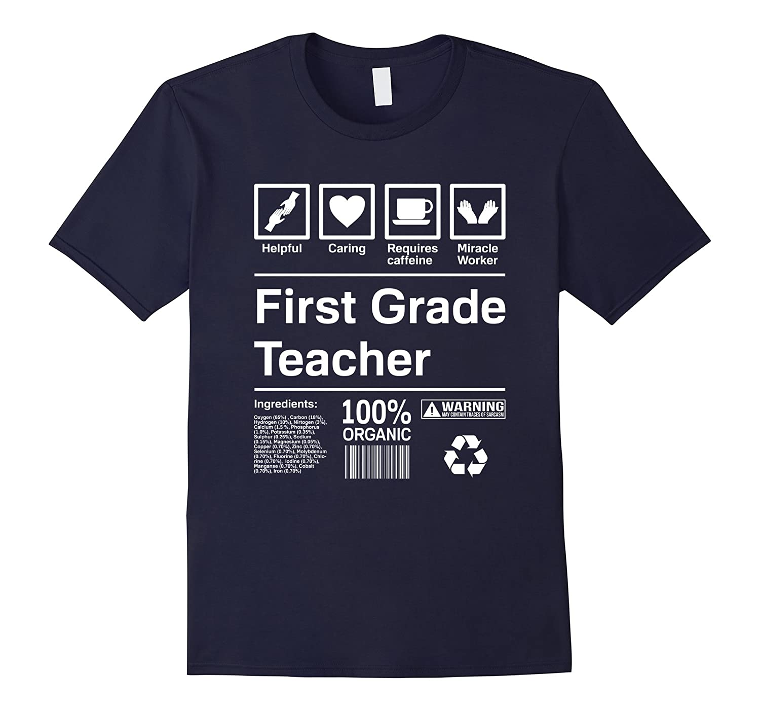 1st Grade Teacher Contents T-Shirt Gift-Art