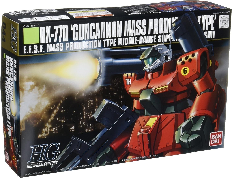 Gundam RX-77D Gun Cannon Mass Production Type HGUC 1/144 Scale (japan import)