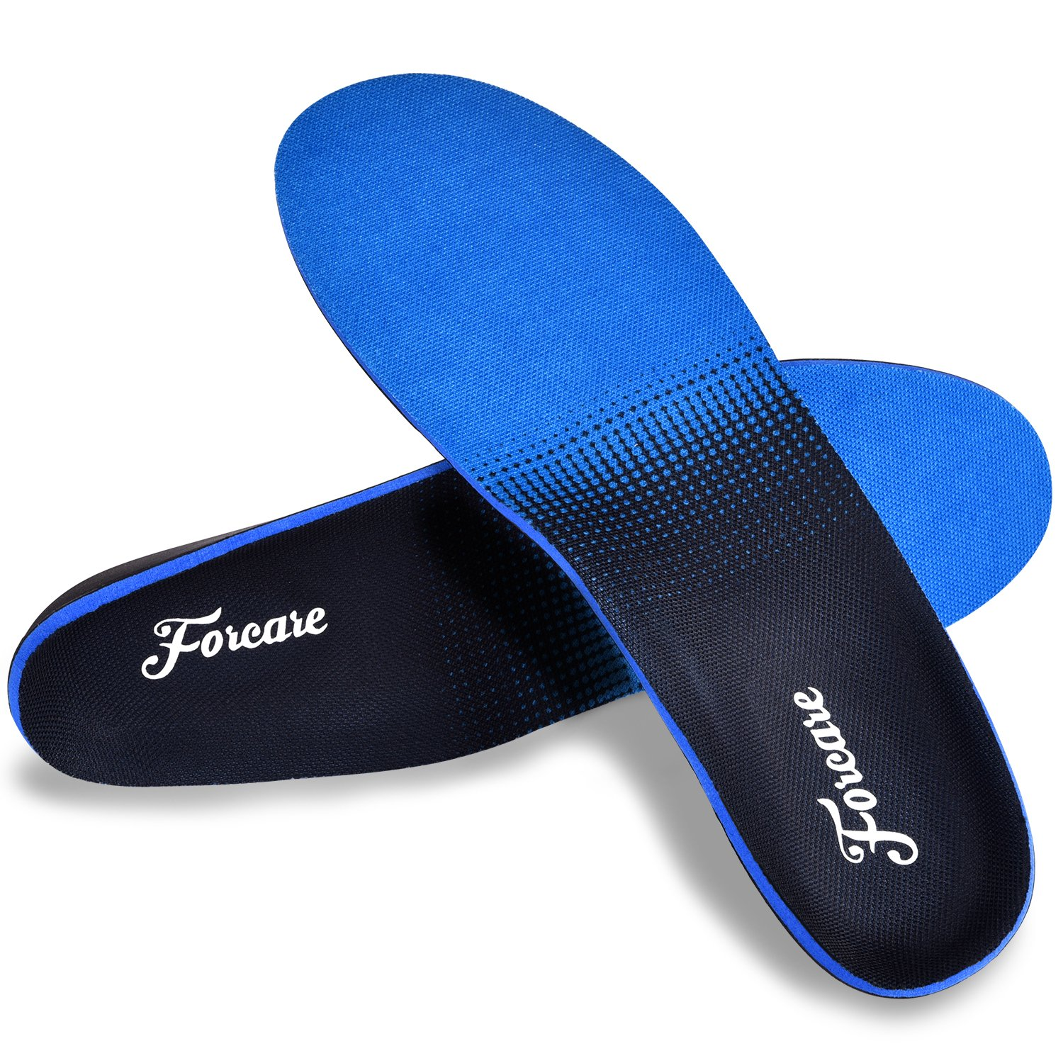 Orthotics for Flat Feet, Forcare Shoes Insoles with High Arch Support for Plantar Fasciitis Over-Pronation Heel Pain Relief (US Mens 8-8.5 | Womens 10-10.5) by Forcare (Image #1)