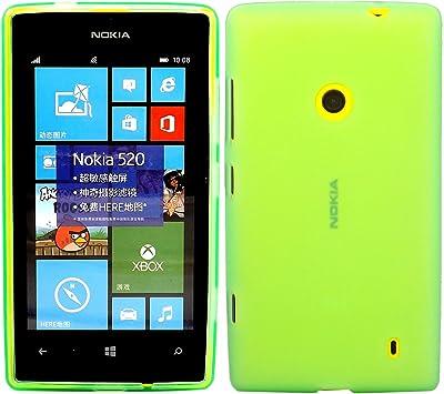 Gel Concha Caso Cubrir Para Nokia Lumia 520 / Green: Amazon.es ...