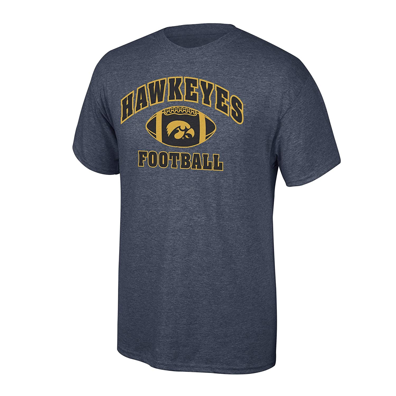 Iowa Hawkeyes Tshirt Football Dark Heather