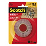 Scotch Outdoor Mounting Tape, x 60-inches, Gray, 1-Roll (411P), 1-inch inches, 15 Pound
