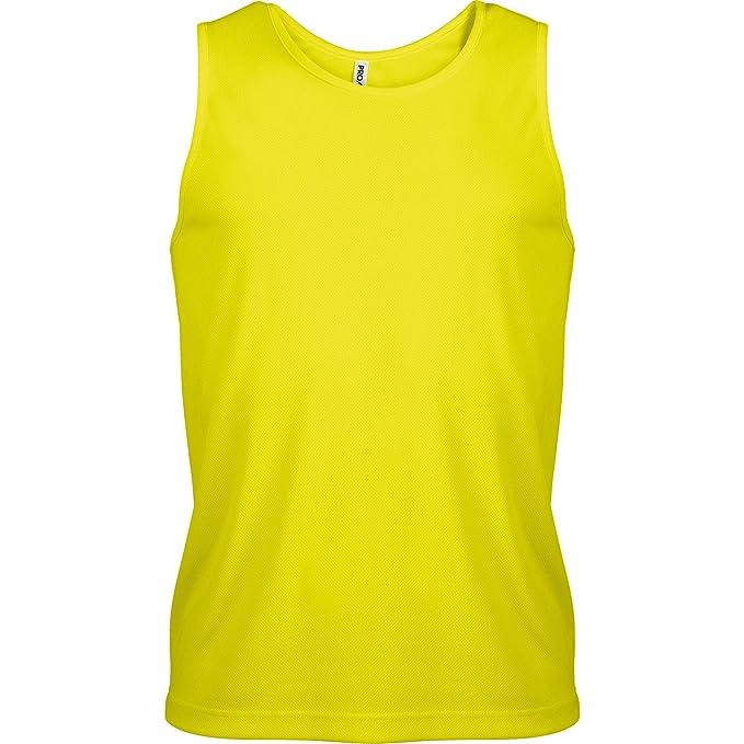 Kariban - Camiseta de deporte transpirable de tirantes para hombre - Running/Gym/Deporte: Amazon.es: Ropa y accesorios
