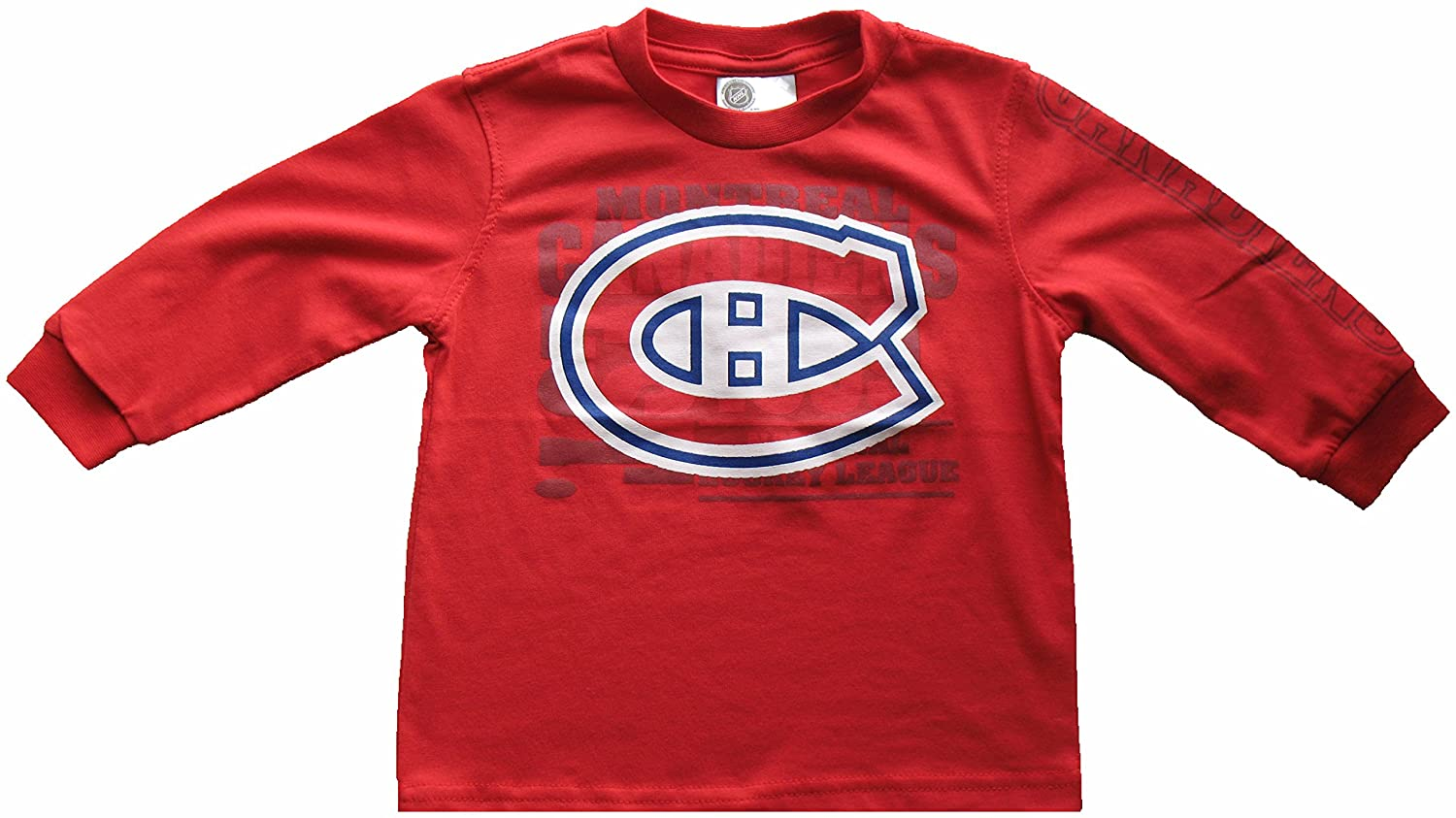 Montreal Canadiens Toddler Logo Long Sleeve T-Shirt (6X) Mighty Mac