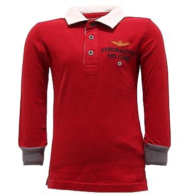 Aeronautica Militare - Polo - para niño rojo 86 cm: Amazon.es ...