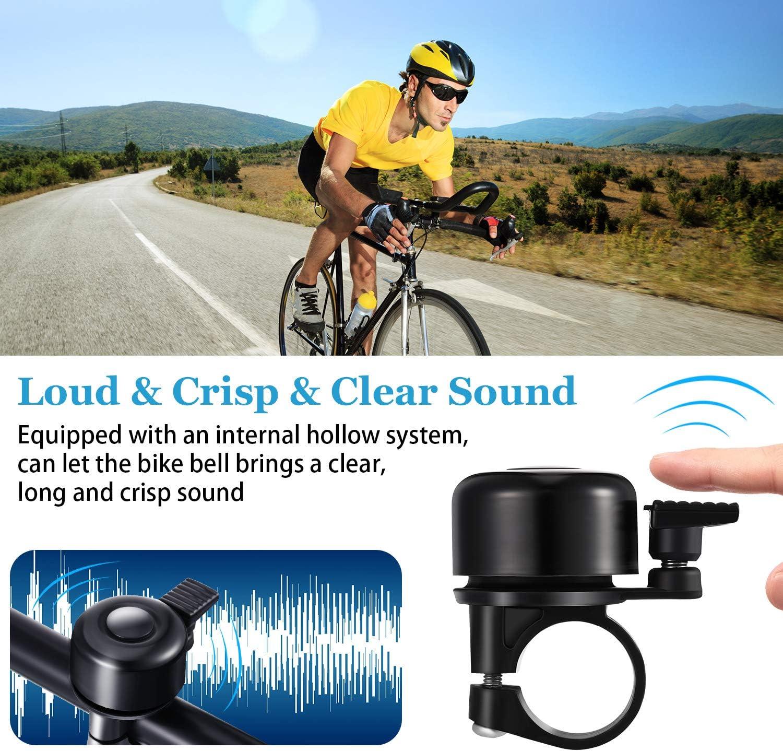 City Bike Mountain Bike Kids Bike Sports Bike 2 Pieces Bicycle Ring Bell Aluminum Alloy Bike Bell Loud Crisp Bike Bell Clear Sound Bicycle Horn for Road Bike