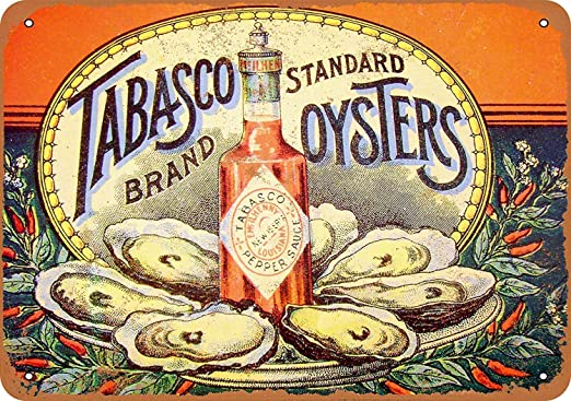 HiSign Tabasco Pepper Sauce and Oysters Retro Cartel de ...