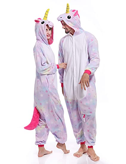 Image Unavailable. Image not available for. Color  Adult Stars Unicorn Onesies  Cosplay Cartoon Animal Pajamas Halloween Homewear Sleepwear Costume dfae20761083