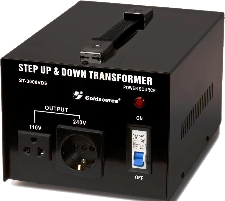 Yinleader DT-3000VA 110 V Convertisseur de tension USA transformateur toro/ïdal 3000VA 110 V et 220 V 110 V ou 220 V Sortie Entr/ée