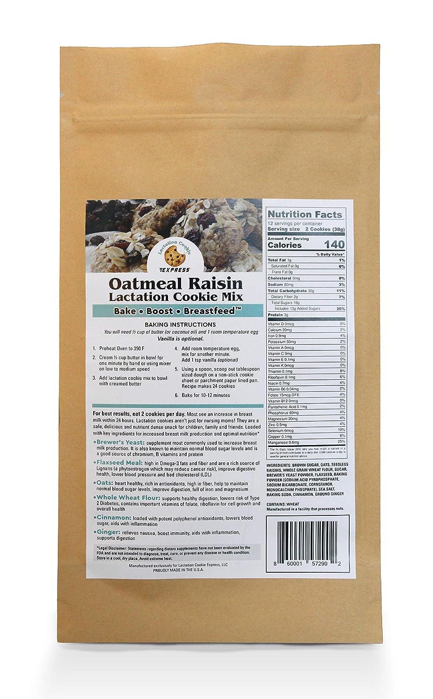 LACTATION COOKIE EXPRESS Oatmeal Raisin Lactation Cookie Mix ...