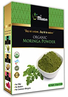 3c9ab8a858e mi nature USDA CERTIFIED Organic Moringa Leaf Powder, Moringa Oleifera  Powder (100% NATURAL