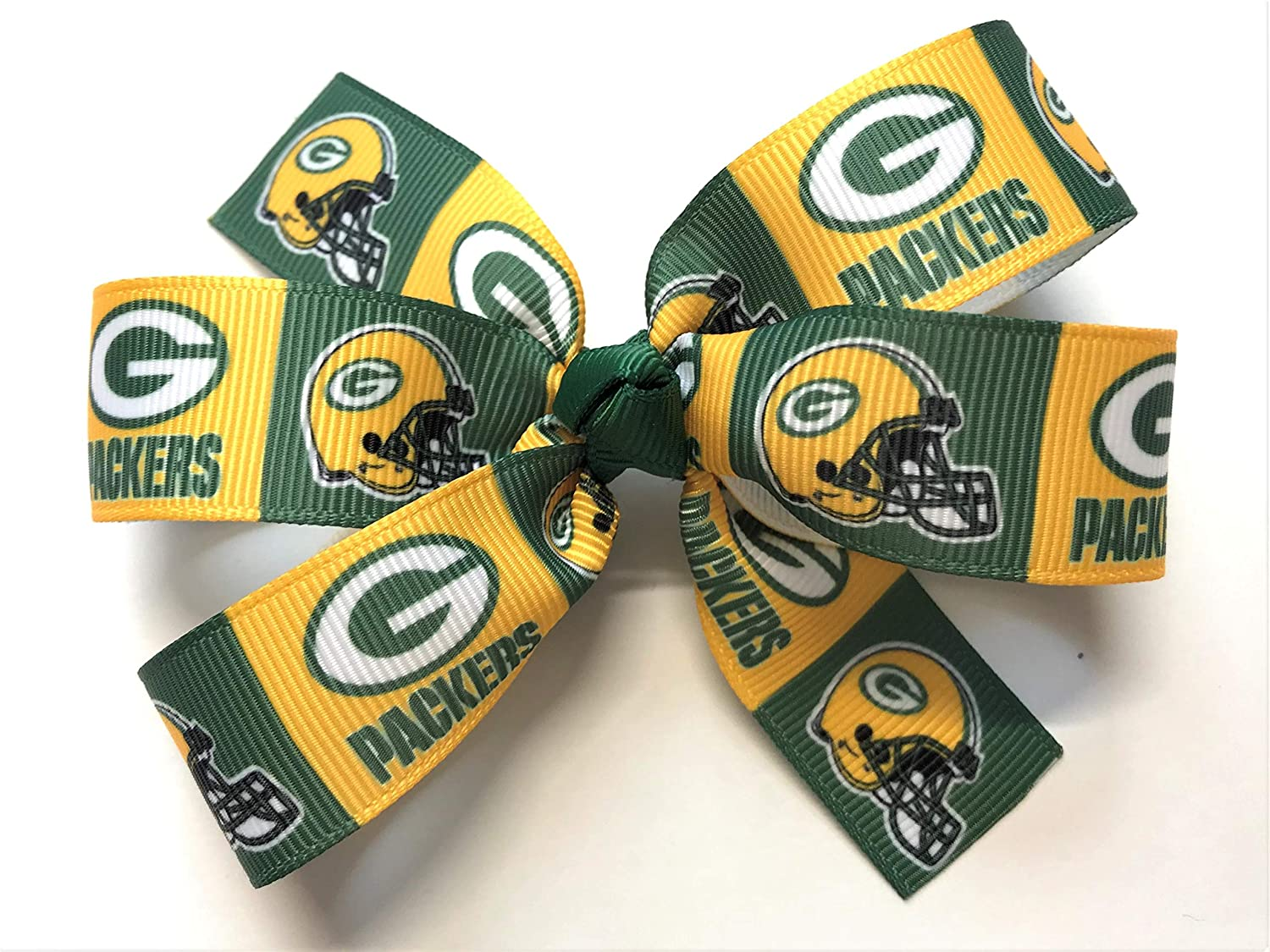Girls NFL Green Bay Packers Hair Bow Green Bay Packers Football NFL Hair Clip