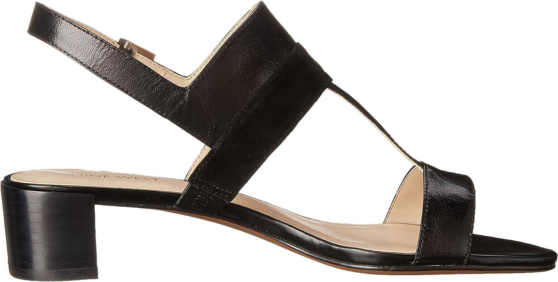 Nine West Womens Howrya Leather Dress Sandal