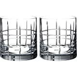 Orrefors Street Double Old Fashioned Glass Pair