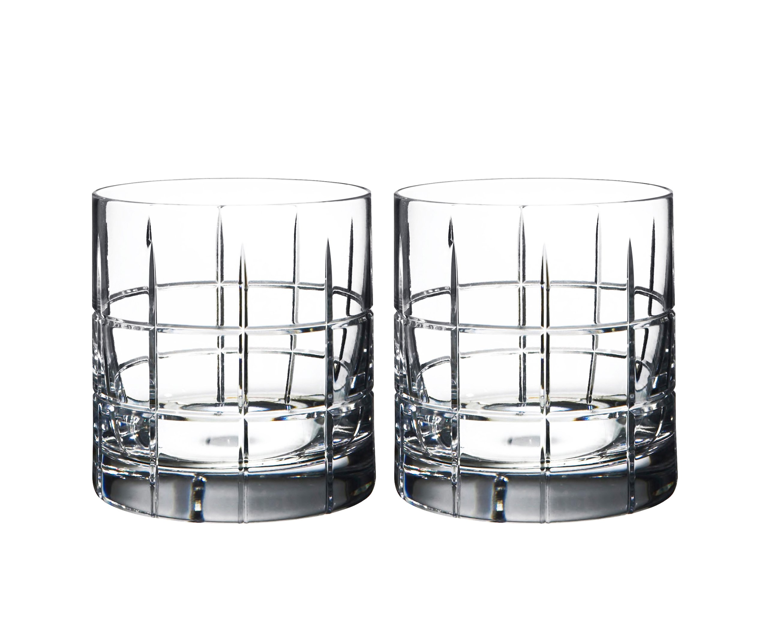 Orrefors Street Double Old Fashioned Glass Pair - 6540104