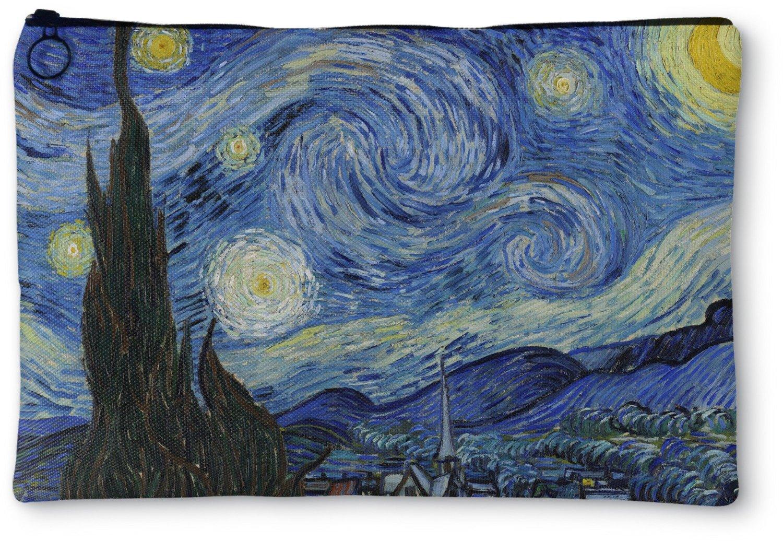 The Starry Night (Van Gogh 1889) Zipper Pouch - Small - 8''x6''