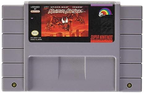 Spider Man Venom Maximum Carnage Super Nintendo Entertainment S