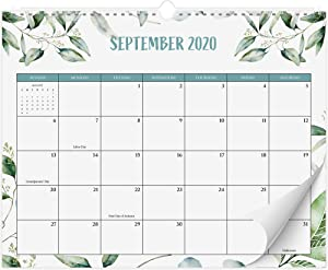 "Beautiful 2020-2021 Greenery Wall Calendar 14.5"" x 11.5"" - 18 Month Wall/Desk Calendar for Easy Planning Until August 2021"