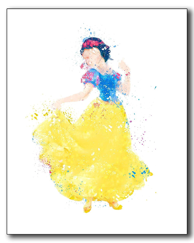 Amazon.com: Anna Frozen Disney Princess Watercolor Photo Prints ...