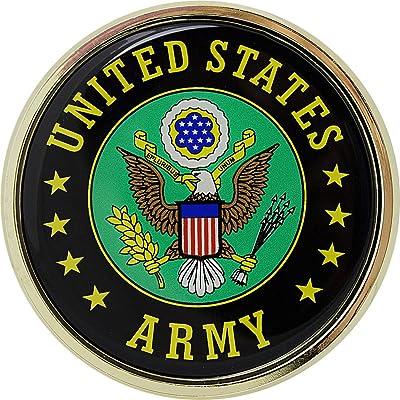U.S. Army Crest Chrome Auto Emblem: Automotive