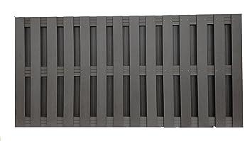 Contemporain Panneau de clôture en Composite Gris 900 x 1828.8 ...