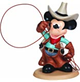 Precious Moments, Disney Showcase Collection, Cowboy Mickey, Bisque Porcelain Figurine, 132708