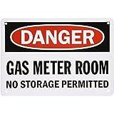 SmartSign Aluminum Sign Legend U0026quotDanger Gas Meter Room No Storage Permittedu0026quot