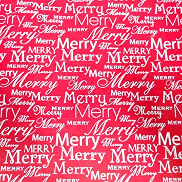 Merry Christmas Letter Y.Amazon Com Best Wrapping Paper 30 X 80 Roll Red White