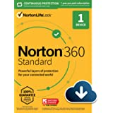 Norton 360 Standard 2021 – Antivirus software for 1 Device with Auto Renewal – Includes VPN, PC Cloud Backup & Dark Web…