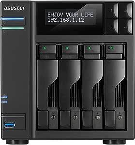 Asustor AS6404T, 4-Bay, Intel Celeron J3455 Quad-Core 1.5 GHz, 8GB RAM