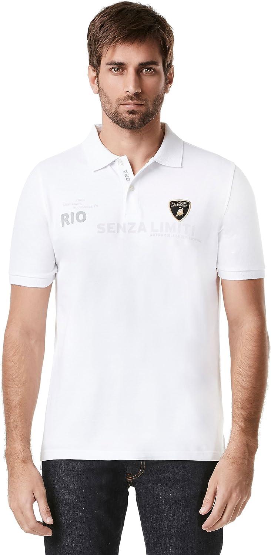 Nuevo. Lamborghini Motorsport camisa de Polo para hombre SS de Río ...