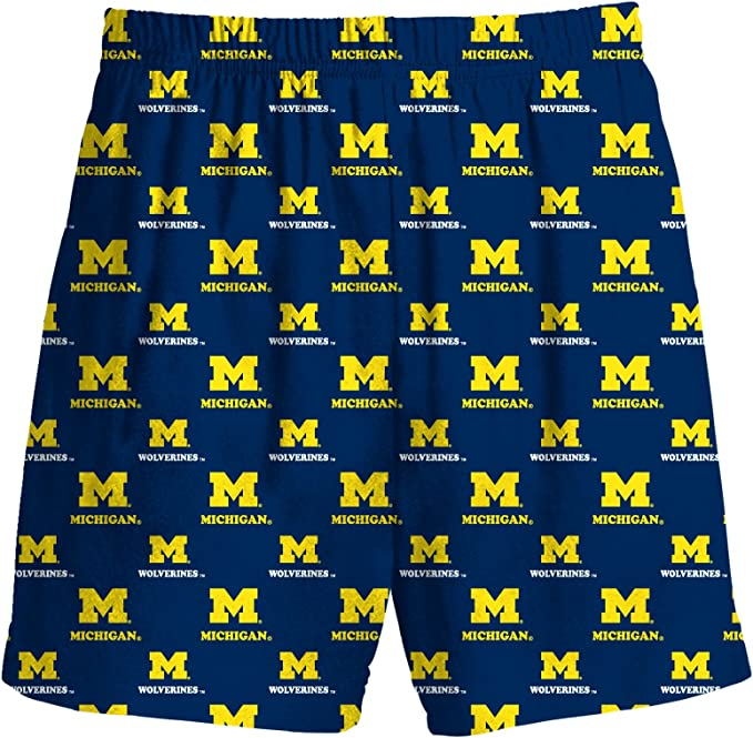 Gen2 Michigan Wolverines Kids Team Colored Printed Pajama Shorts