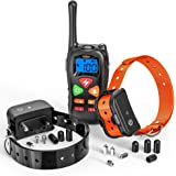 Dog Training Collar, F-color Rechargeable Waterproof Dog Shock Collar with Remote with Beep Vibrating Shock for Medium and Large Dogs, Electric dog training E-collar