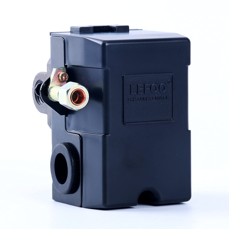 Lefoo Quality Air Compressor Pressure Switch Control 95 Diagram Pro 125 Psi 4 Port W Unloader Lf10 4h 1 Npt1 Home Improvement