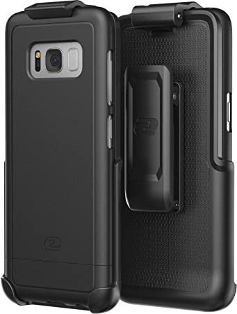 Encased Galaxy S8 Belt Clip Holster Case Secure-fit Smooth Black Samsung Galaxy S8 DuraClip Combo