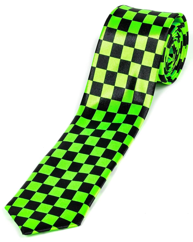Evil Wear - Corbata de diseño, diseño de rombos, color negro y ...