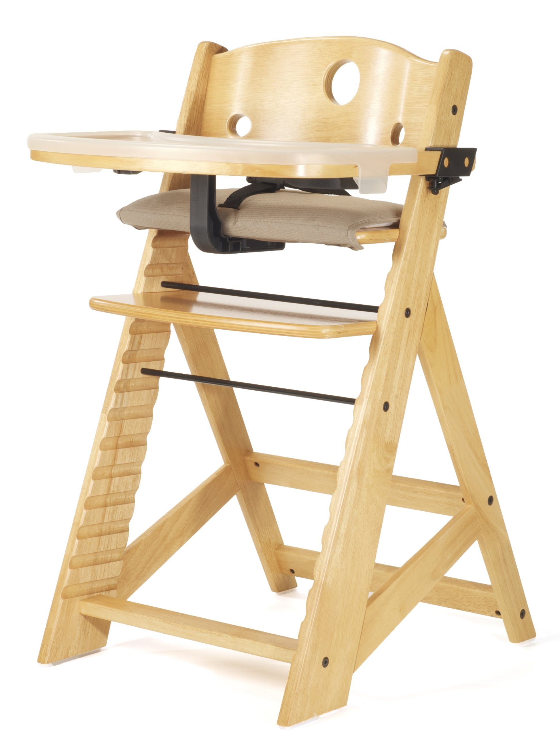 Keekaroo Height Right High Chair with Tray, Natural by Keekaroo