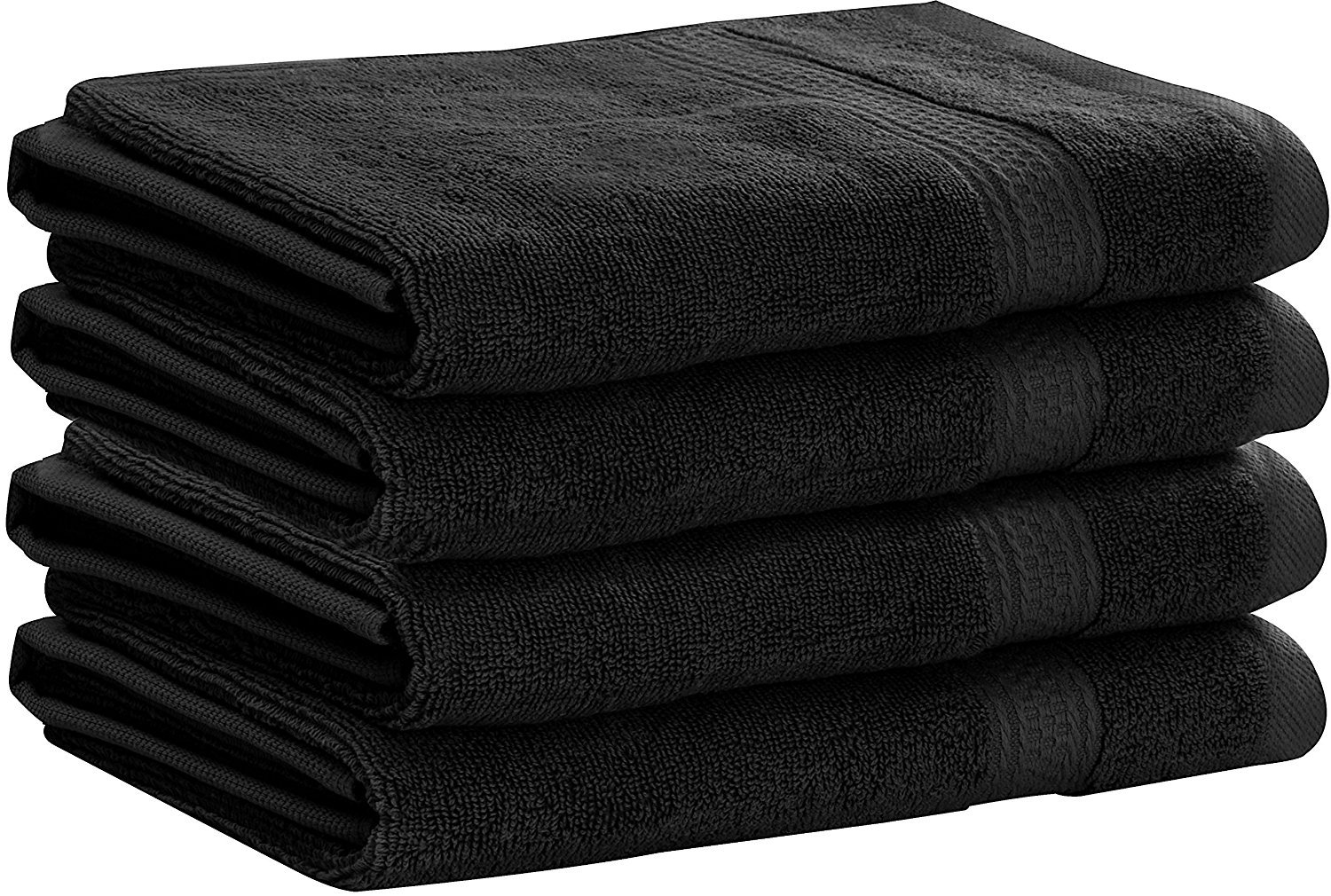 Utopia Towels Premium 700 GSM Cotton Large Hand Towels (Black, 4-Pack,16 x 28 inches) - Multipurpose Towels for Bath, Hand, Face, Gym and Spa UT0466
