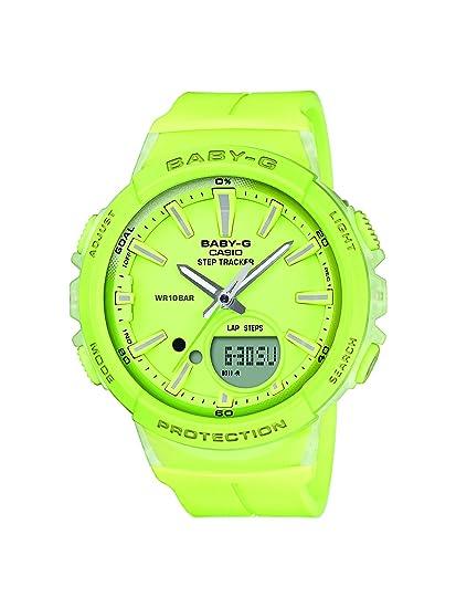 Casio Reloj Analogico-Digital para Mujer de Cuarzo con Correa en Resina BGS-100-9AER: Amazon.es: Relojes
