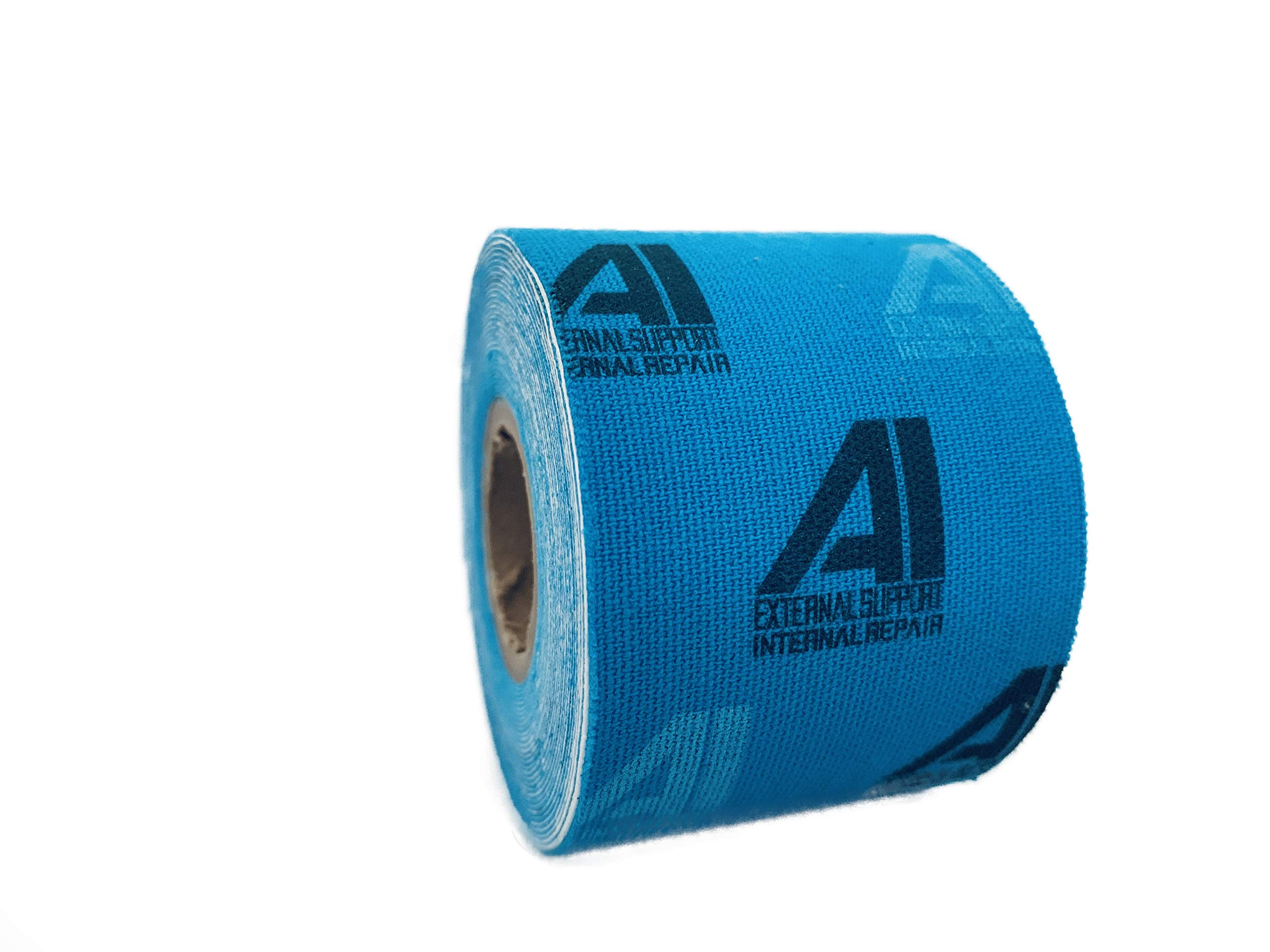 Active Intelligence AI Kinesiology Tape (w/Pain Relief Formula) Repair & Recovery - 2 in x 16 ft - (One Roll) (Blue w/Logo) by Active Intelligence