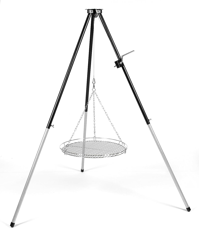 Dreibein Grillgestell Schwenkgrill Tripod Grill Stand ohne Grillrost ! 170cm mit Kurbel