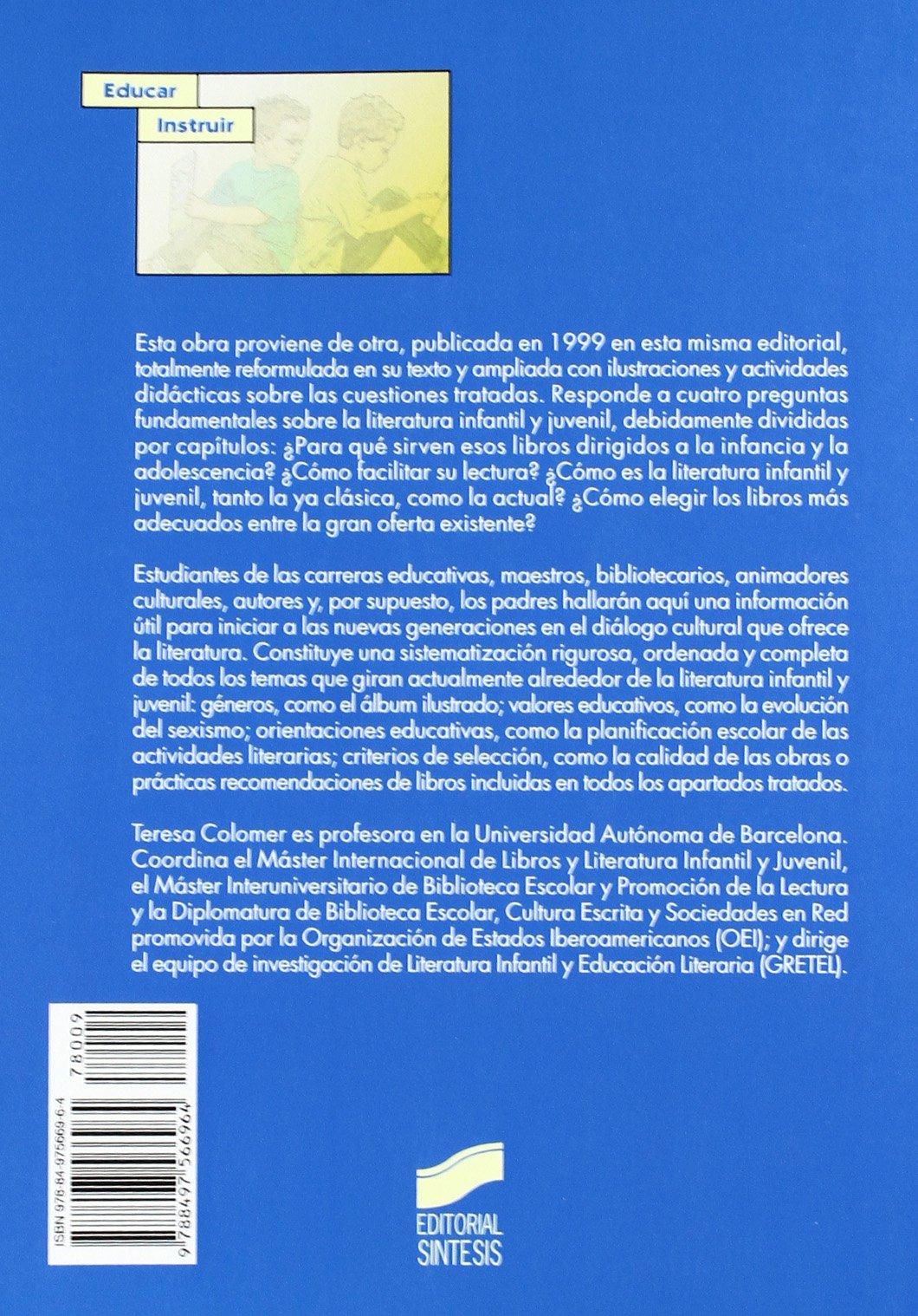 Introducción a la literatura infantil y juvenil actual: Teresa Colomer Martínez: 9788497566964: Amazon.com: Books