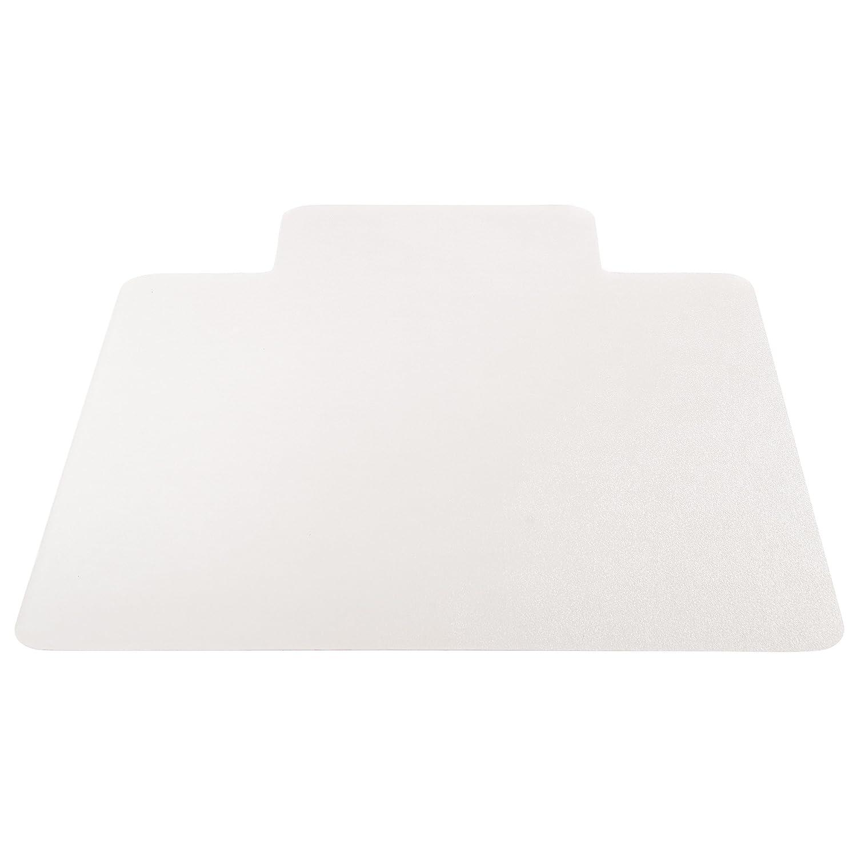 "Deflecto EconoMat Clear Chair Mat, Hard Floor Use, Rectangle With Lip, Straight Edge, 45"" x 53"", Clear (CM2E232COM)"