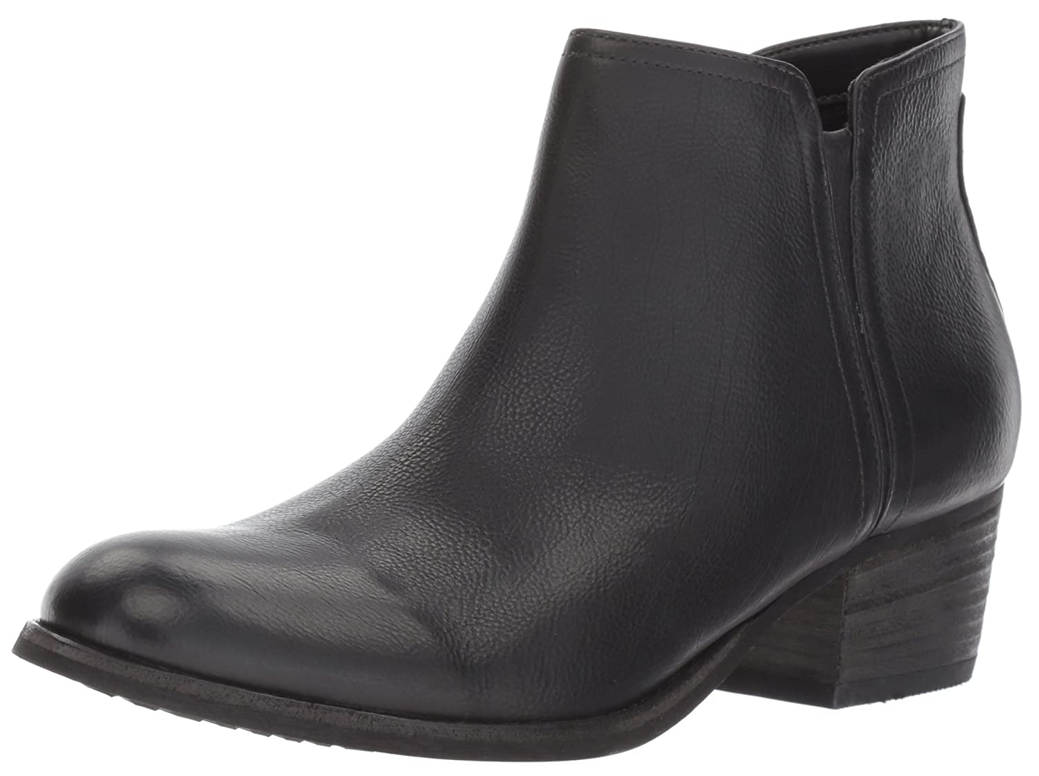 Black Leather Clarks Women's Maypearl Ramie Ankle Boot
