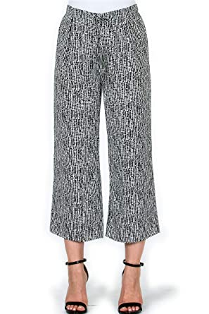 a35d0c58f430a Over Kleshas Women's Abstract Print Crop Flare Woven Pants at Amazon ...