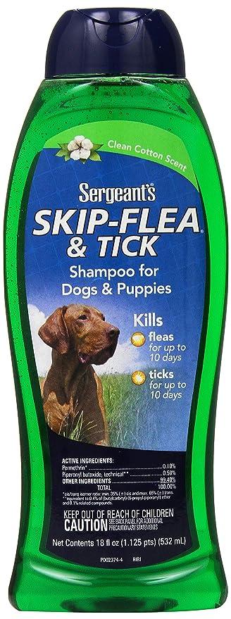 Amazon.com: Sargento de skip-flea y Tick Champú para perros ...