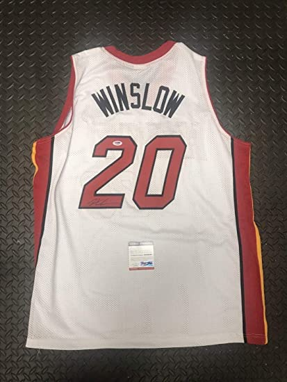 1741308a0a0b Image Unavailable. Image not available for. Color  Justice Winslow Autographed  Signed Custom Miami Heat Jersey Auto PSA DNA ...
