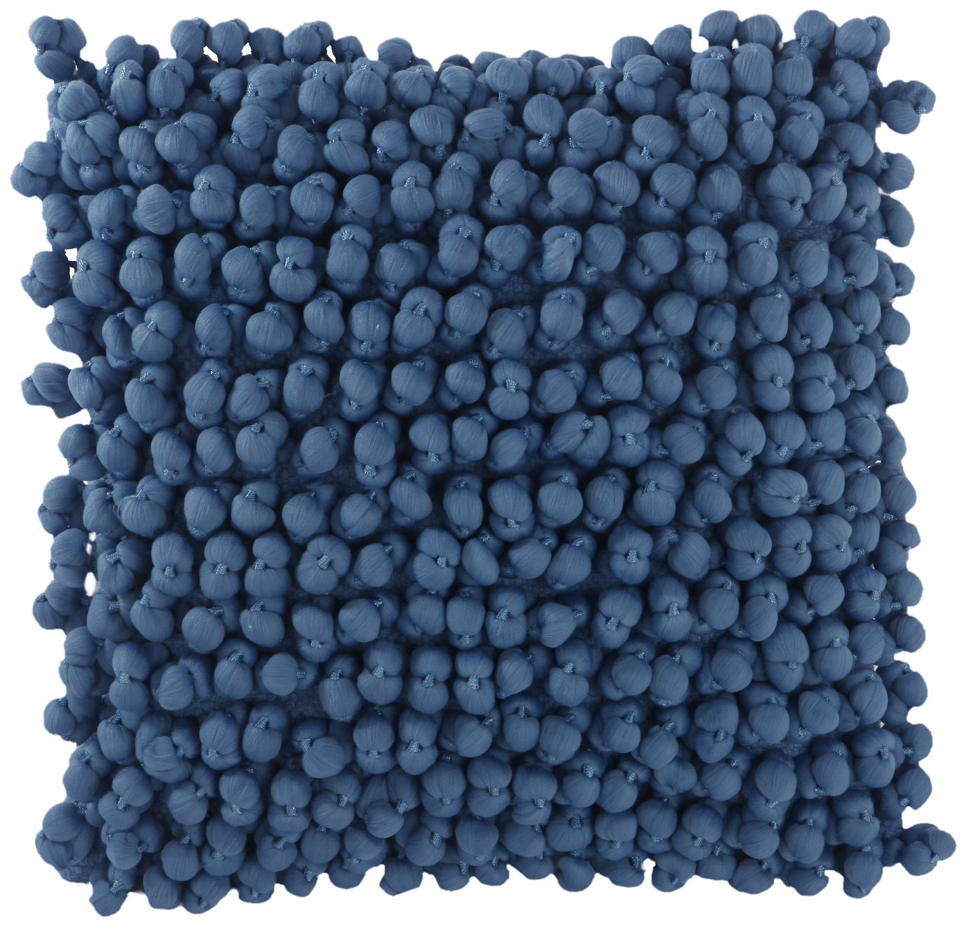 A&B Home Square, Blue, 18-Inch Pom Polyester Cotton Throw Pillow, 18 x 18,