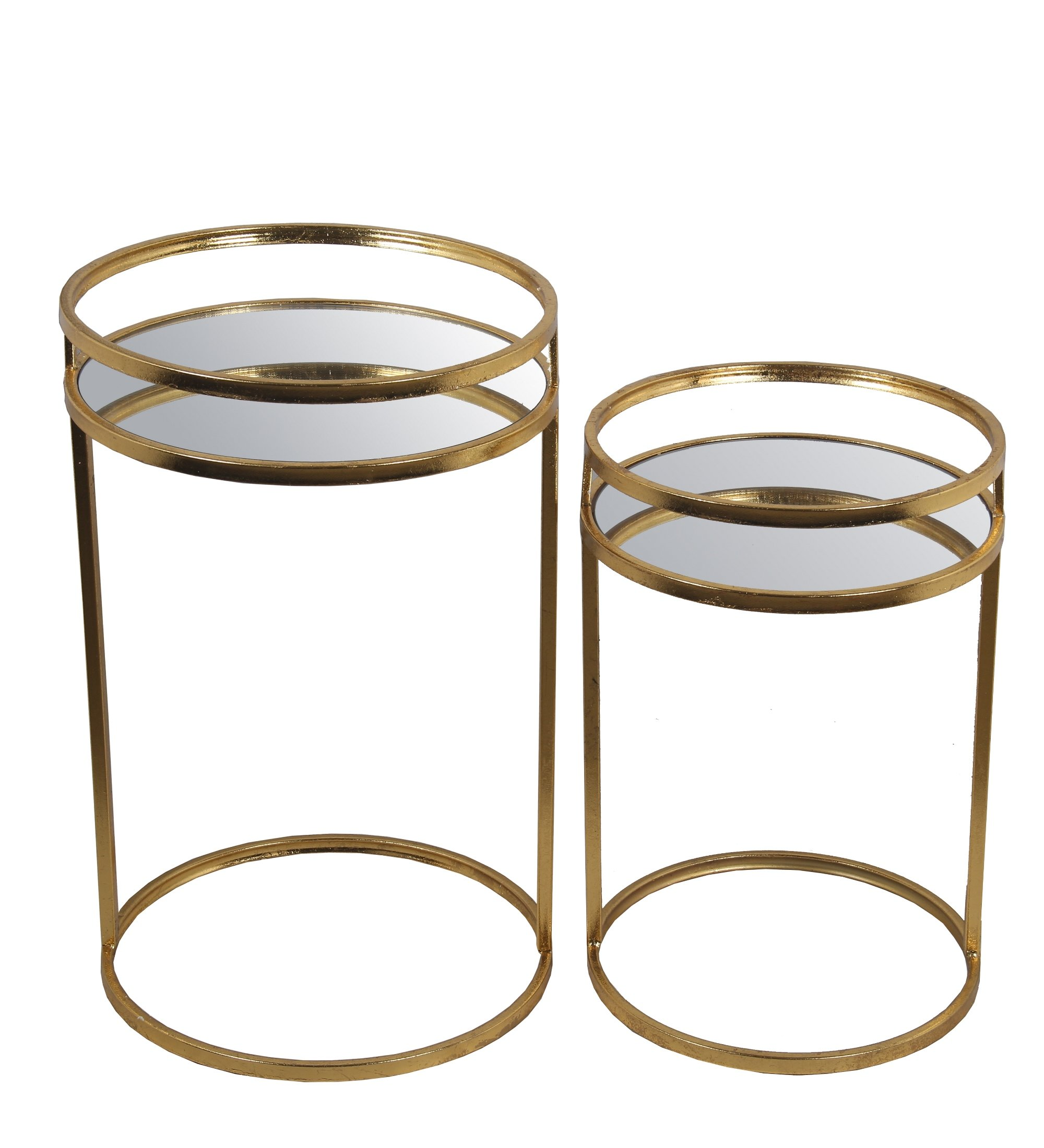 Privilege 71195 2 Piece Accent Leaf Table, Gold